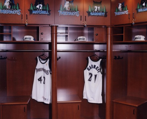 Minnesota Timberwolves Locker Room Siewert Cabinet