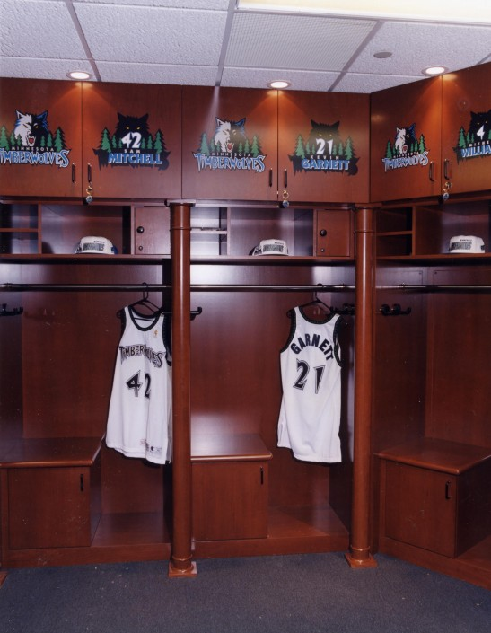 Minnesota Timberwolves Locker Room Siewert Cabinet